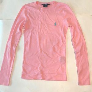 Ralph Lauren Sport Pink Long Sleeve Top